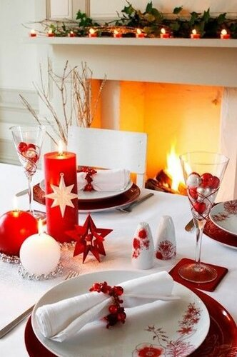 Новогодний декор для праздничного стола