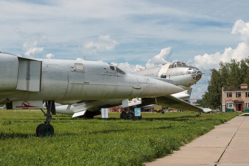 Рязань, музей Дальней Авиации, стоянка самолетов, Ту-22М2, М-4-2