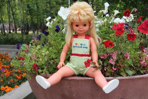 полукомбинезон для куклы желтый