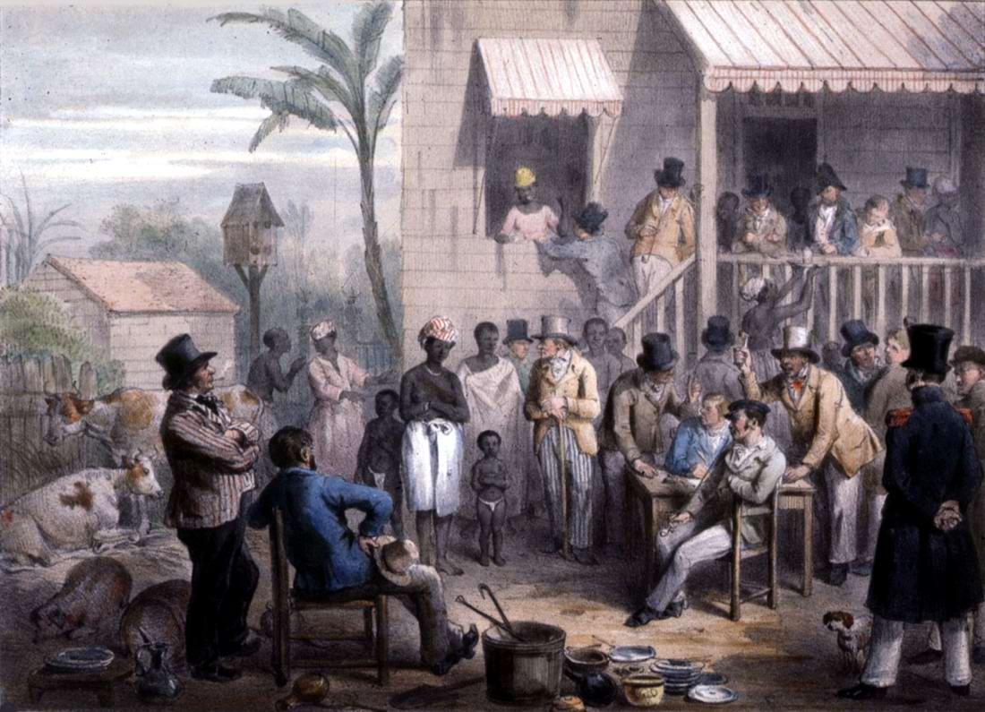 Продажи в рабство чернокожей женщины и ее детей (Суринам, 1831 год)