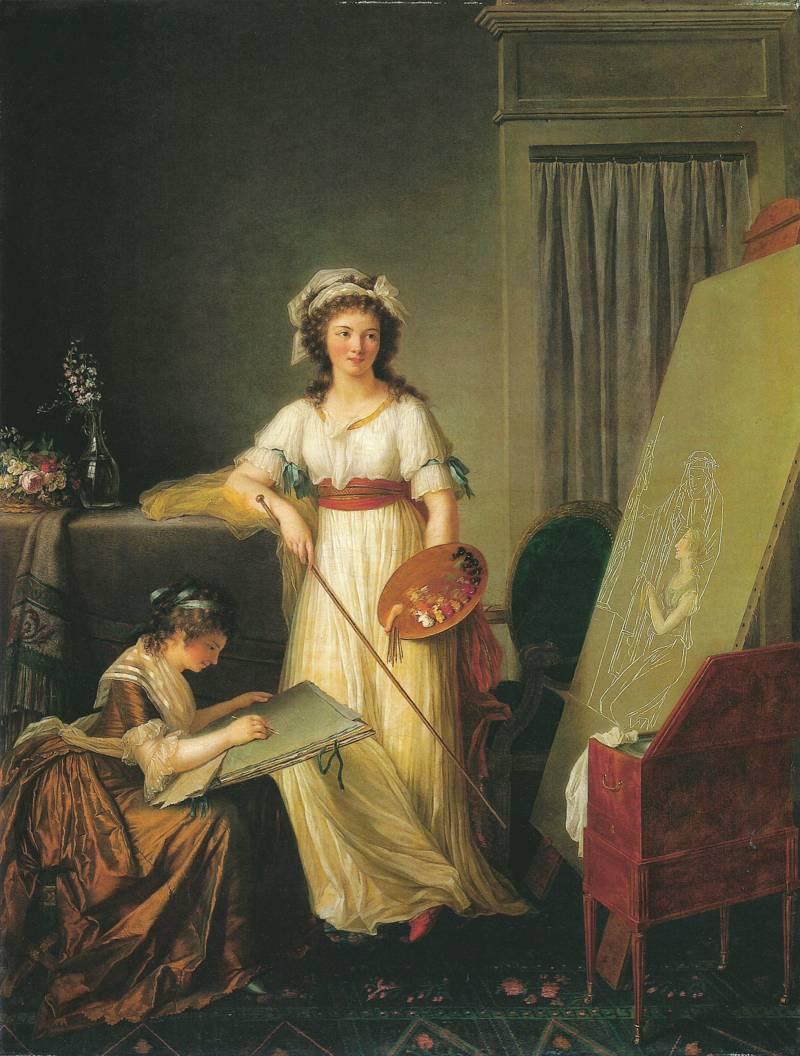 Портрет Элизабет Виже-Лебрен с ученицей. Музей Метрополитен, Нью-Йорк, США.