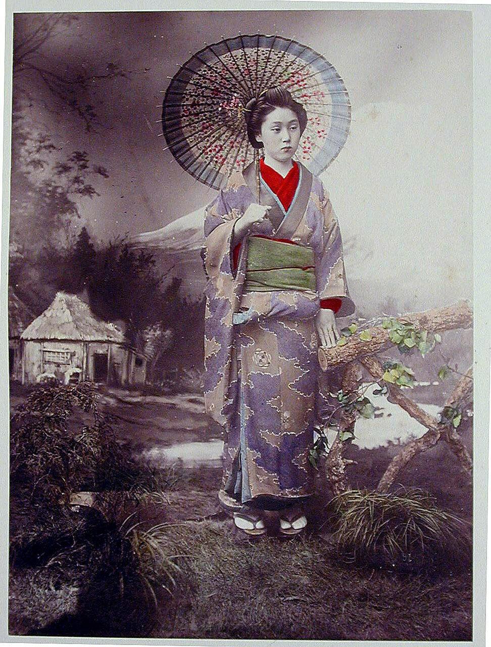 Женщина с зонтом. 1880-е