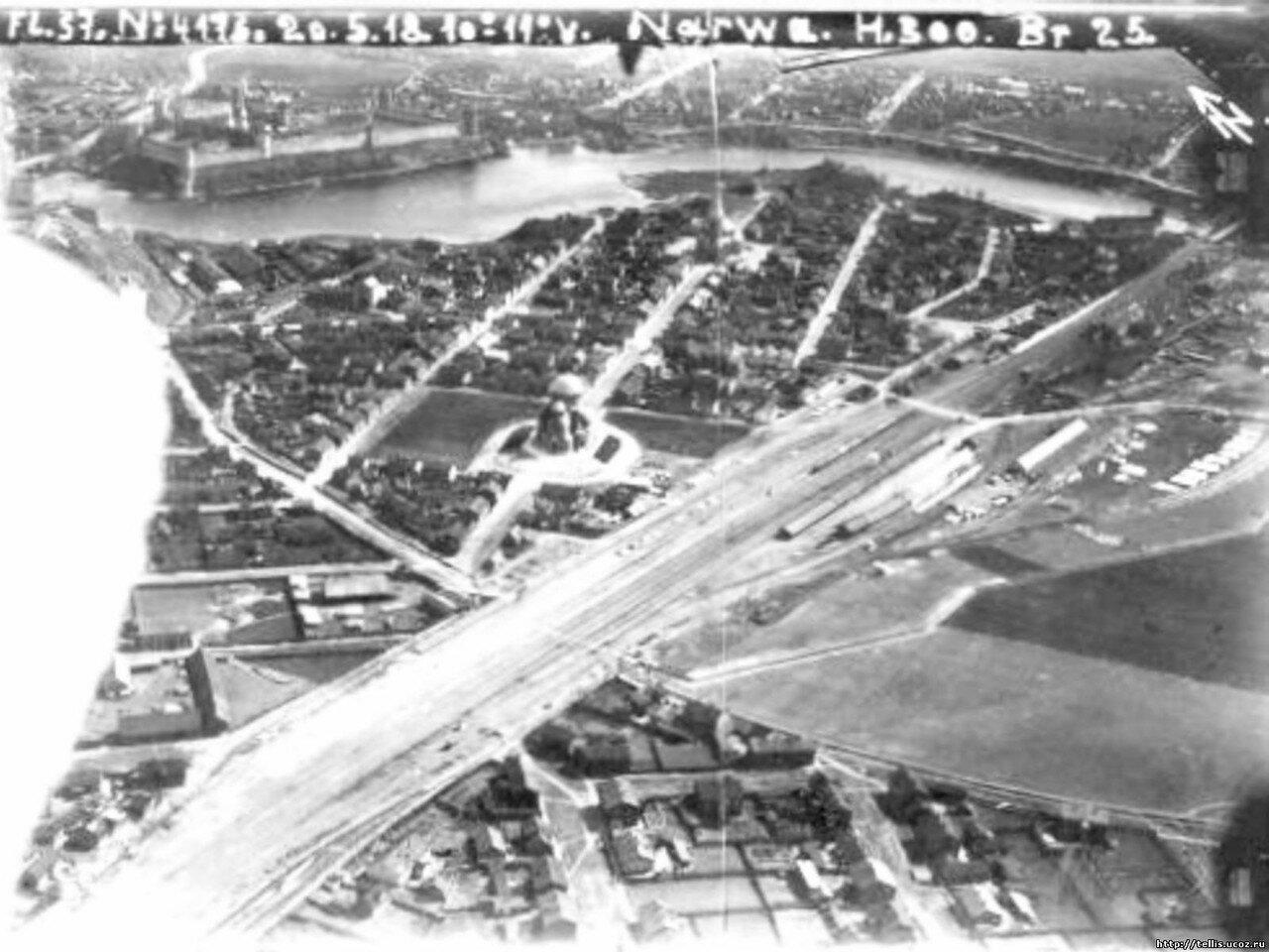 Аэросъемка Нарвы. 1918
