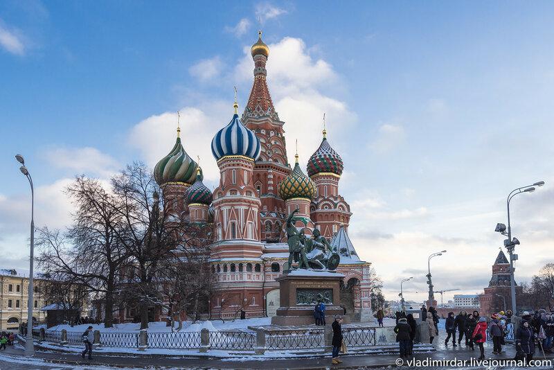 Храм Василия Блаженного. Предновогодняя Москва 2015.
