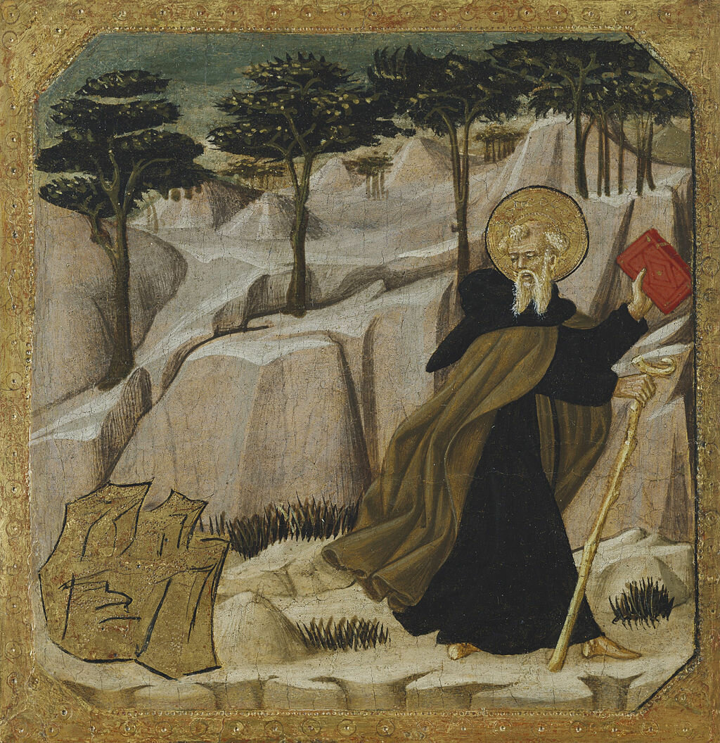 Saint_Anthony_Abbot_Tempted_by_Gold_-_Giovanni_di_ser_Giovanni_Guidi,_called_Lo_Scheggia,_formerly_called_Master_of_Fucecchio_-_Google_Cultural_Institute.jpg