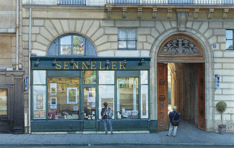 Le magasin Sennelier ou la caverne et l'artiste