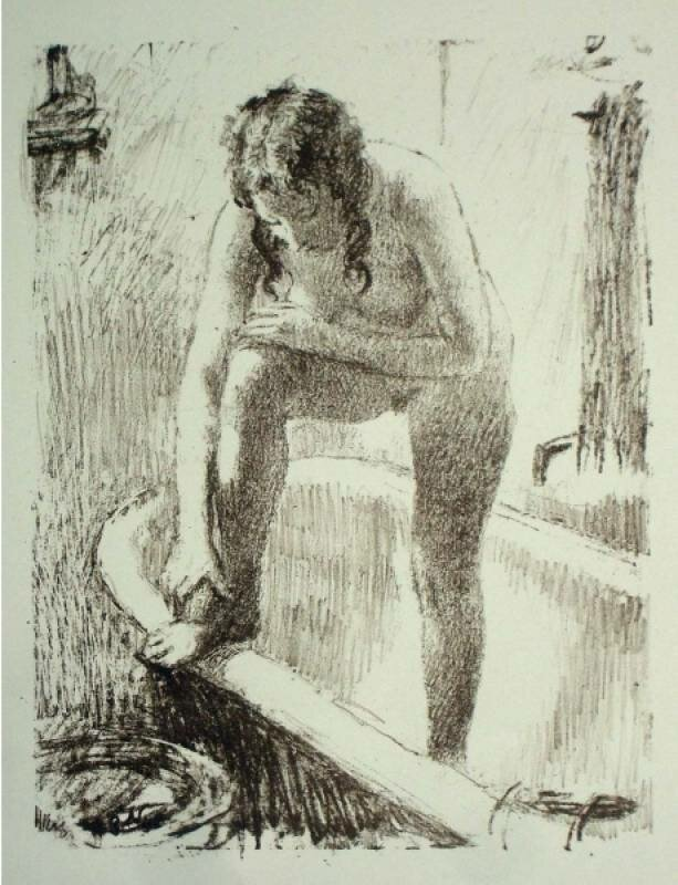 Обнаженная, намыливающая ногу | Nude soaping the leg