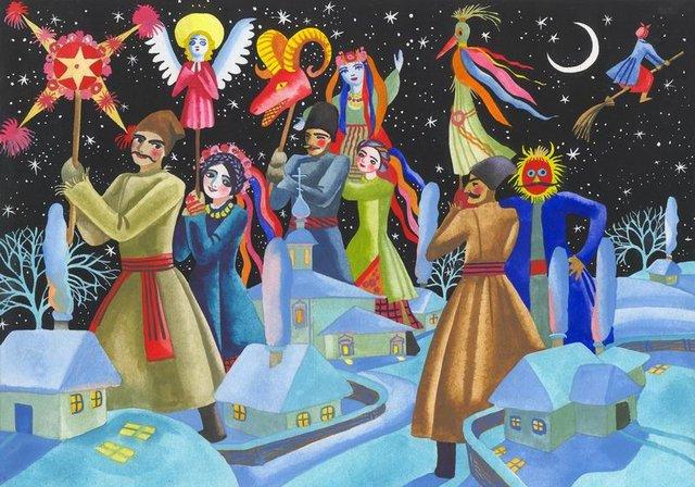 Николай Васильевич Гоголь - Ночь перед Рождеством - Иллюстрация, Автор неизвестен