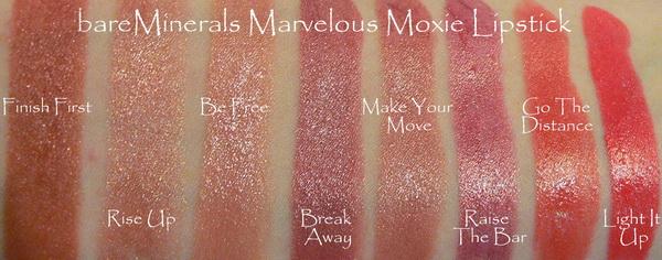 Цветовой ряд Bareminerals Marvelous Moxie