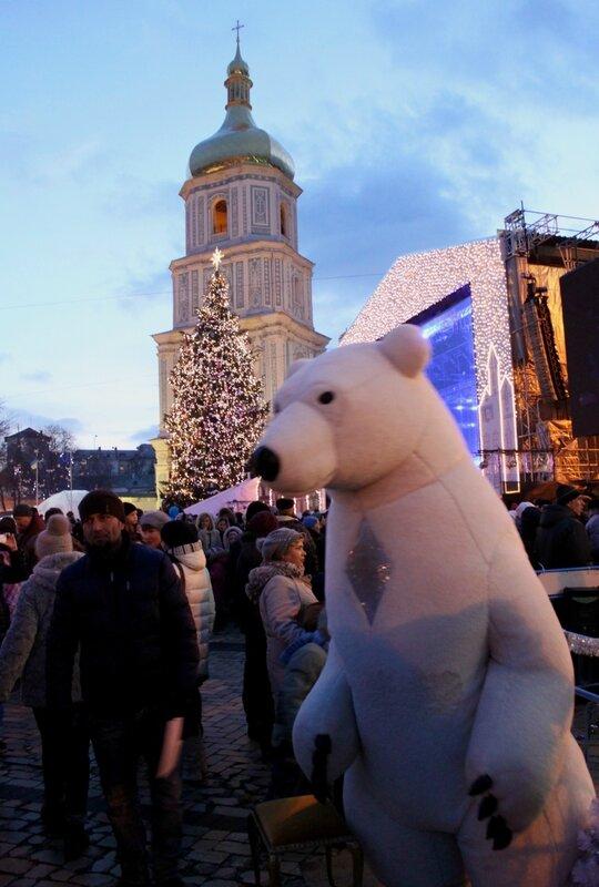 Зажигание главной елки Киева