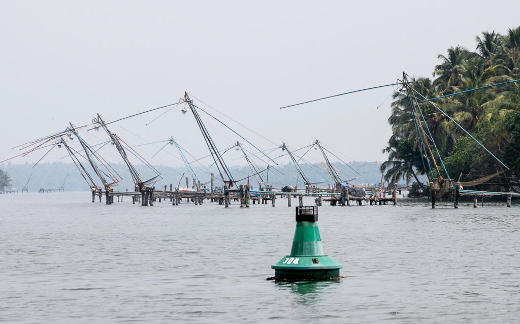 Фотография 27. Рыболовные снасти - наследие китайцев. Поездка в Кералу