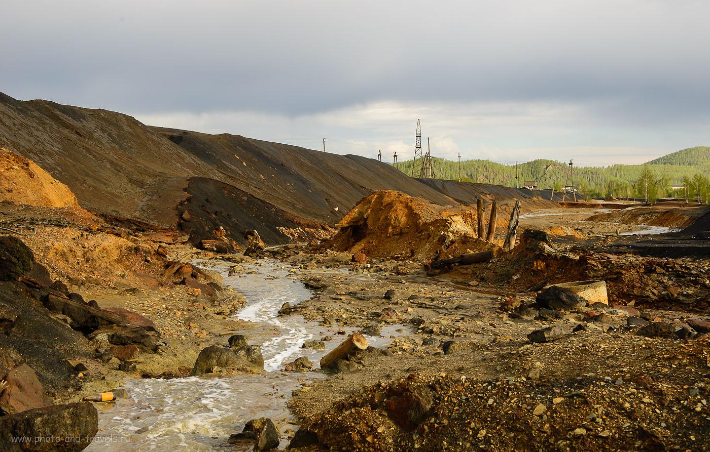 9. Мёртвая вода в реке Сак-Элга. Отзыв об экскурсии по окрестностям Карабаша. (400, 45, 10.0, 1/250)
