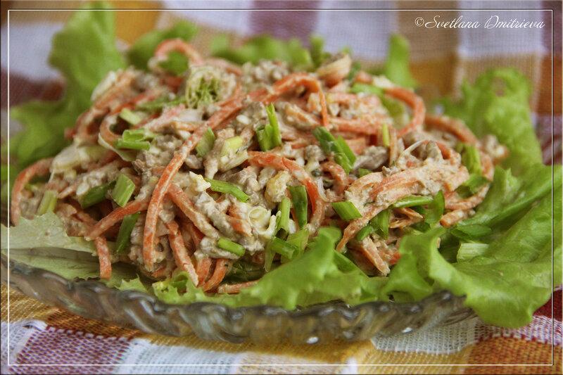 Салат с печенью куриной фото