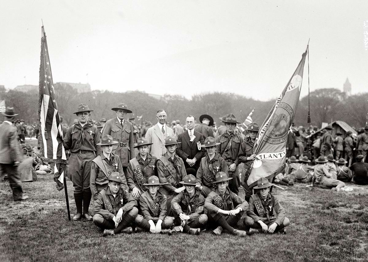 Американские бойскауты начала 20-го века на снимках фотографов (28)