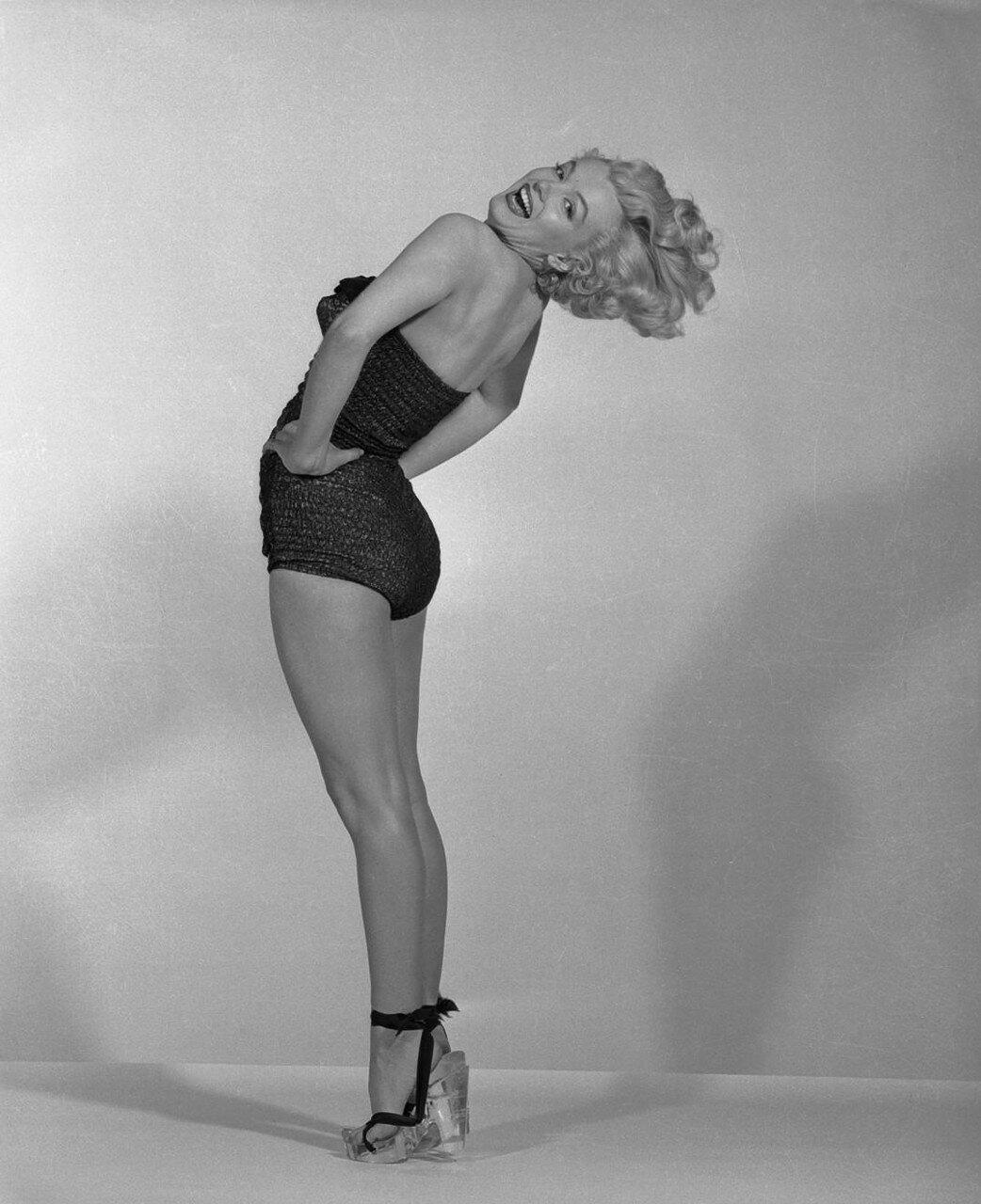 Actress Marilyn Monroe Posing in Bathing Suit