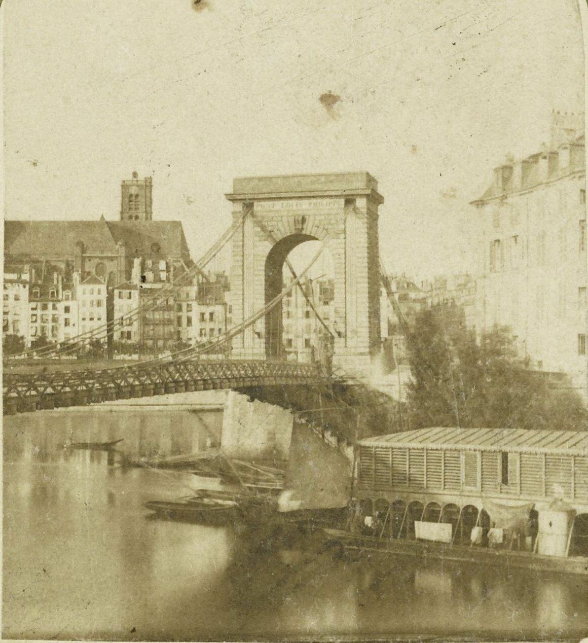 1855. Мост Луи-Филиппа
