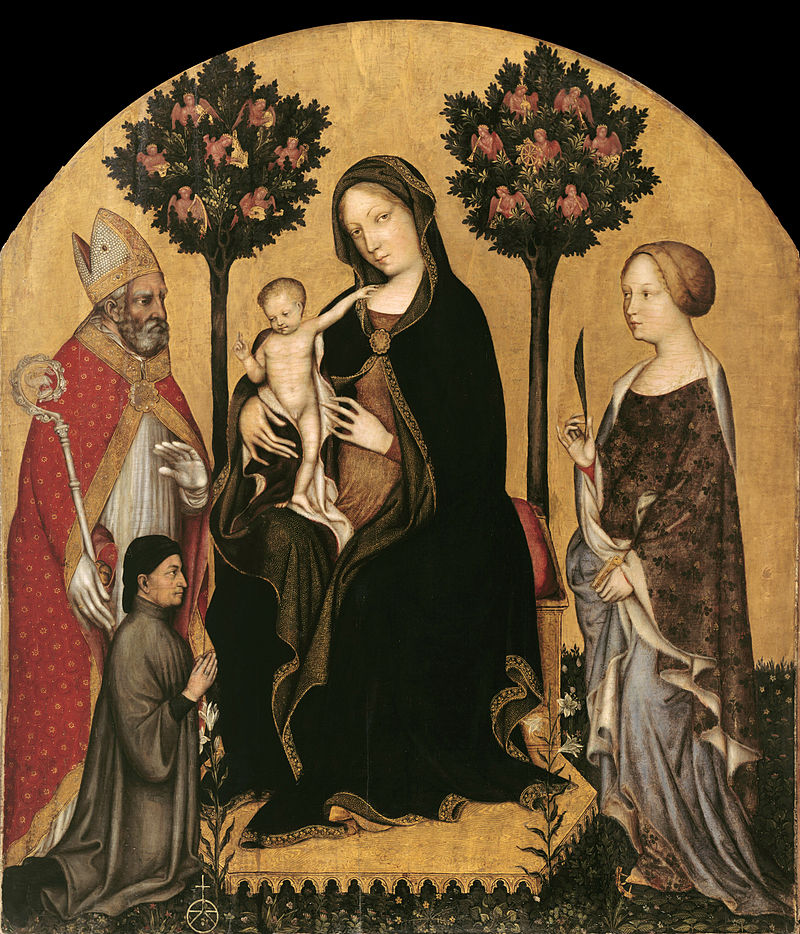 800px-Gentile_da_Fabriano_-_Mary_Enthroned_with_the_Child,_Saints_and_a_Donor_-_Google_Art_Project.jpg