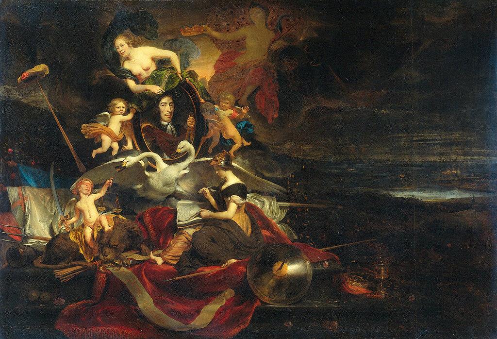 1280px-Allegorie_op_de_tocht_naar_Chatham_(1667)_met_een_portret_van_Cornelis_de_Witt_-_Allegory_on_the_Raid_on_the_Medway_(Cornelis_Bisschop,_1668).jpg