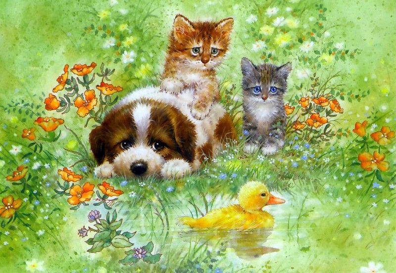 Благодарствую, открытки коты и собаки