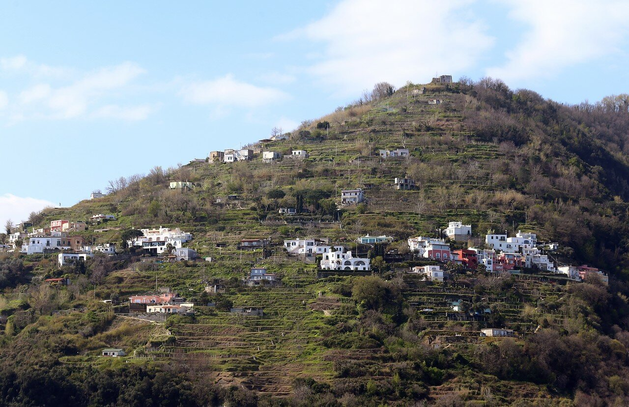 Ischia. mountain Toron. The village of Campagnano (Campagnano)