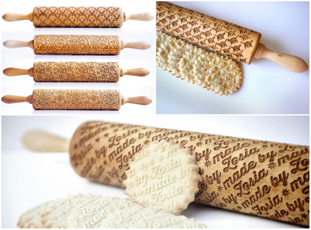 Простая иблестящая идея— скалки, которые позволяют делать печенья срисунками. Впрошлом году пов