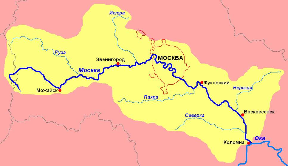 схема Москва-реки