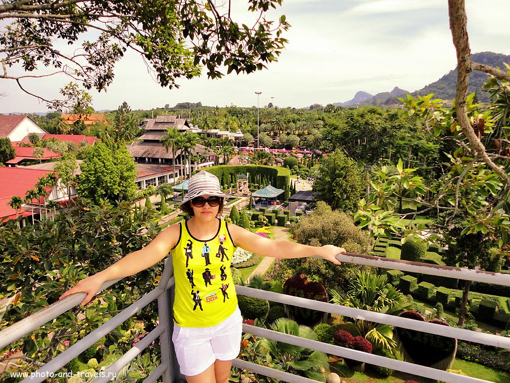 6. Вид на ботанический сад Нонг Нуч с одной из смотровых площадок на территории парка. Что посмотреть в Паттайе самостоятельно.