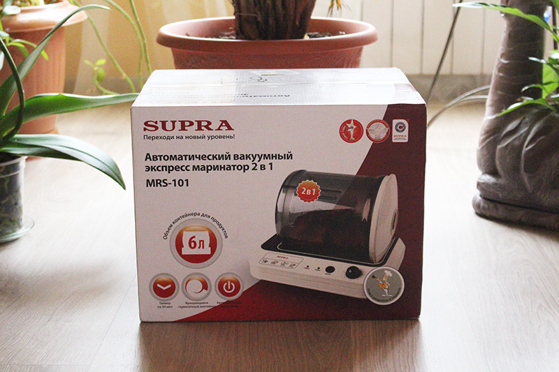 SUPRA, SUPRA MRS-101, маринатор, обзор