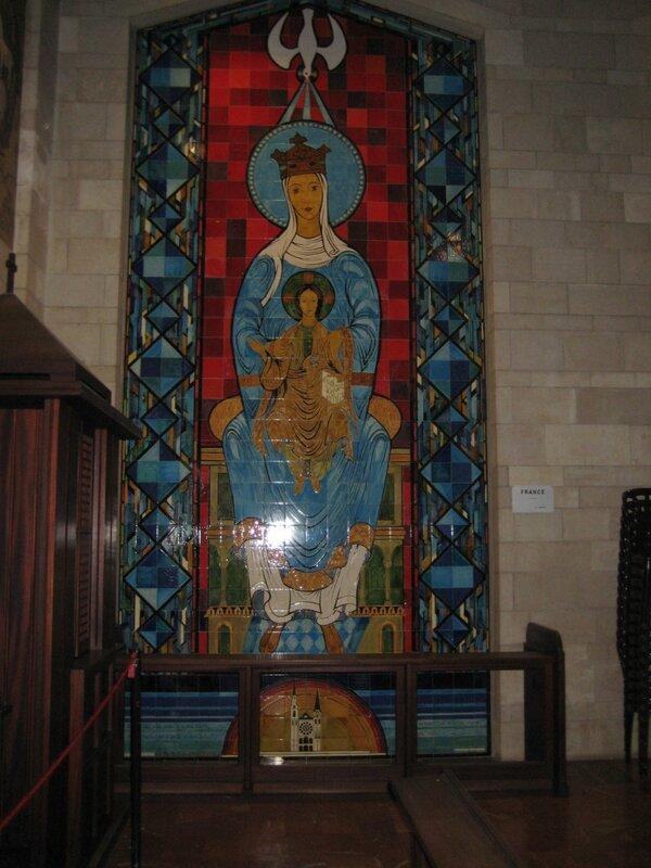 Израиль. Хайфа и Галилея - панно Богородицы с Младенцем, Франция