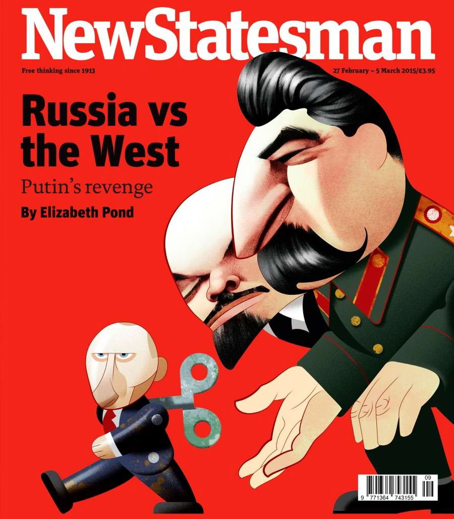 Россия против Запада: Путин, Ленин и Сталин на обложке британского журнала New Statesman
