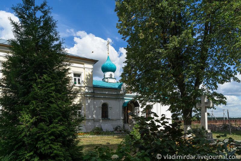 Храм, построенный в честь Иерусалимской иконы Божией Матери. Крестовоздвиженский монастырь.