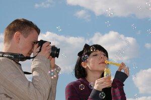 Фотограф и пузыри