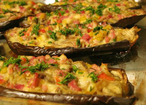 Лодочки из баклажанов в духовке пошаговый рецепт с фото