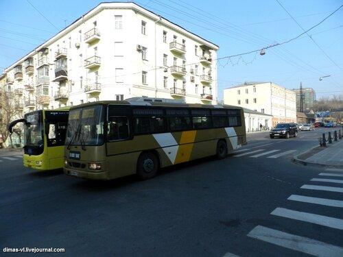 Автобусные гонки на Алеутской. 14-01-2012г
