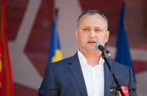Игоря Додона освистали у здания Парламента Молдовы