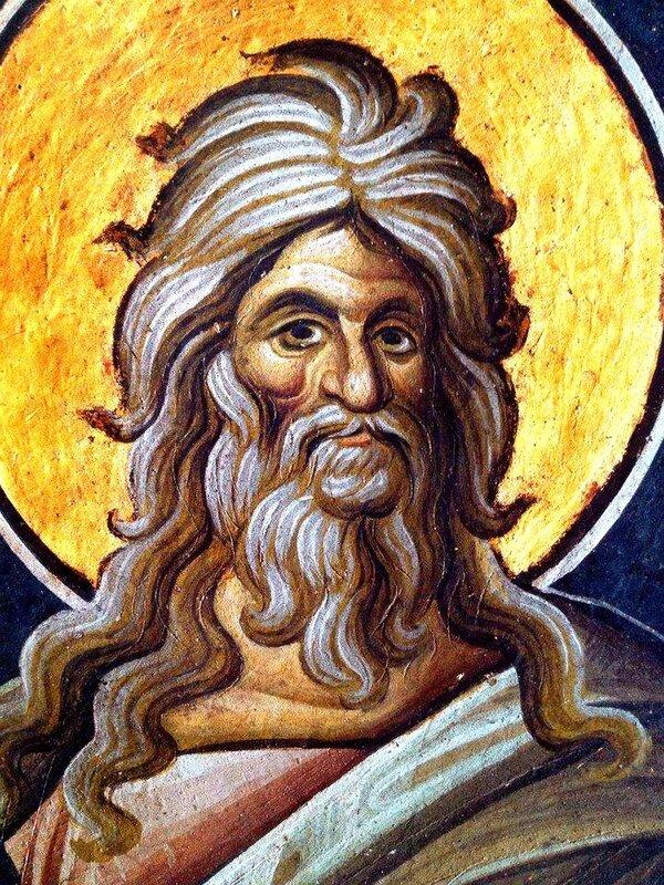 Святой Пророк Иезекииль. Фреска монастыря Ватопед на Святой Горе Афон.