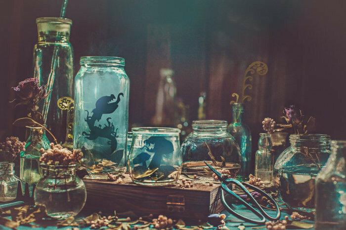 Ночной садовник (Gardener's nights). Автор работ: Дина Беленко (Dina Belenko).