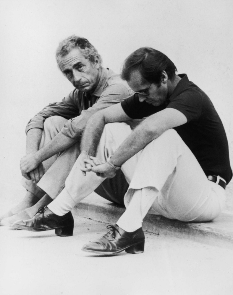 Michalenagelo Antonioni and Jack Nicholson, 1975.