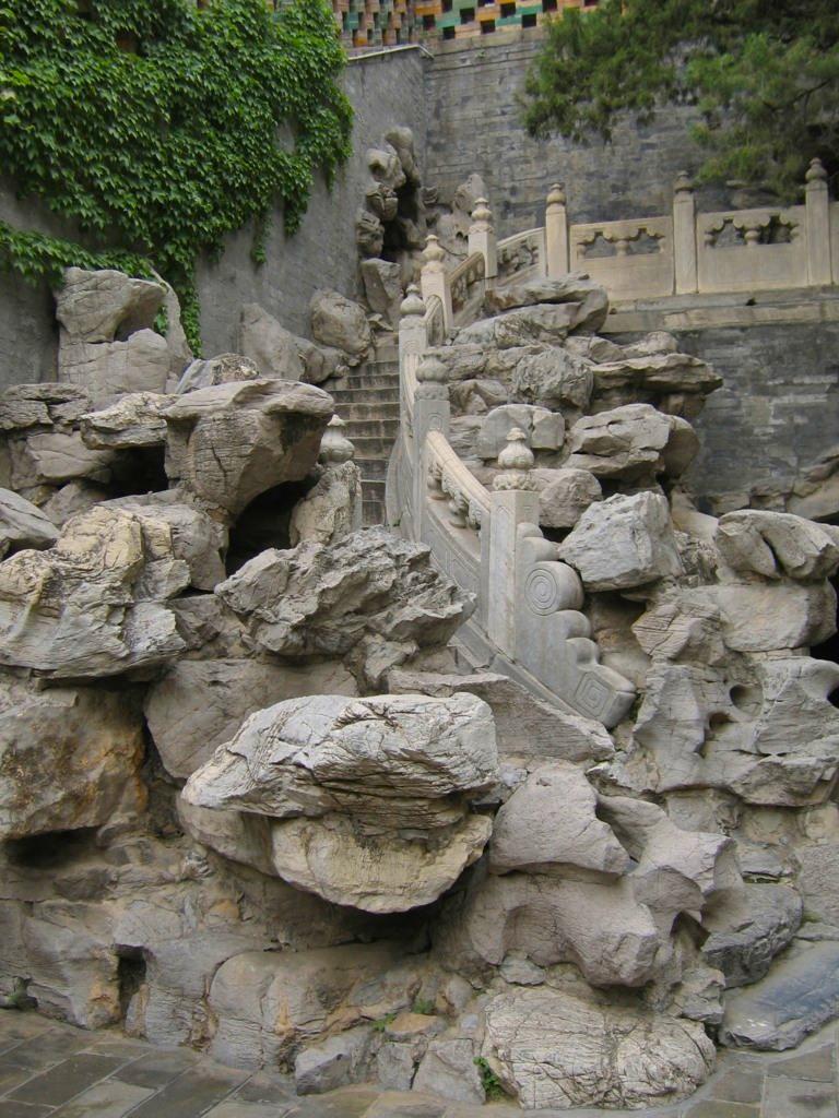 Камни и лестница, парк Бэйхай, Пекин