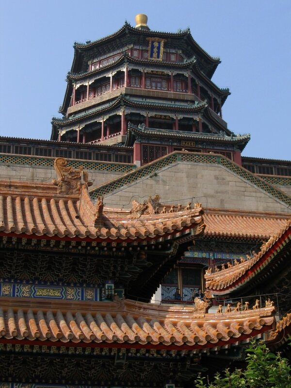 Башня ароматов Будды, парк Ихэюань, Летний дворец, Пекин