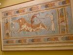 В музее Ираклиона - фреска из дворца