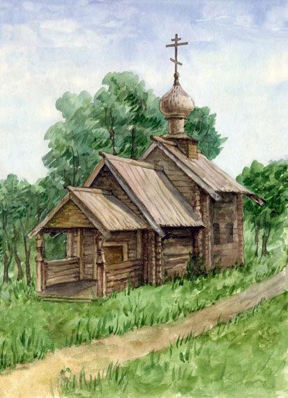 церквушка - ПРИРОДА - Фотоальбомы - Мои картины.