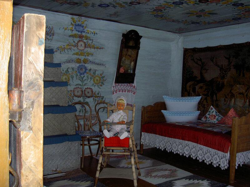 Image result for расписные стены изба крестьяне сибирь