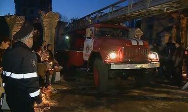 Почти полностью сгорела церковь в одном Молдавском селе