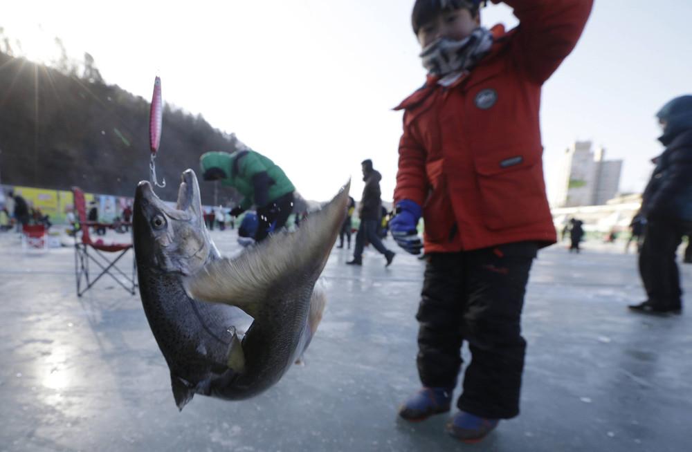 Фестиваль зимней рыбалки в Южной Корее