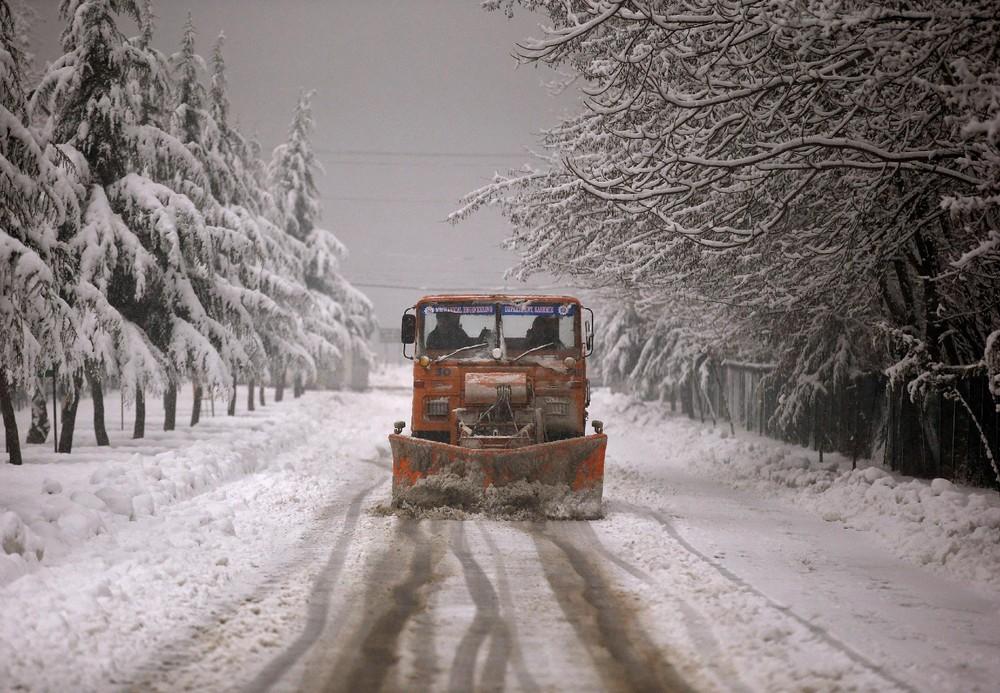 Снегопады в Индии