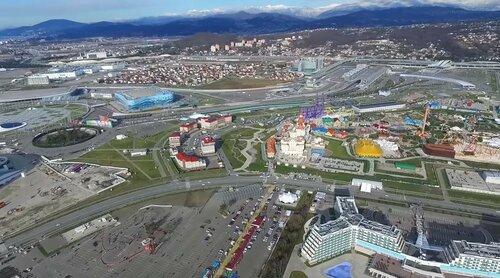 Новогодние Красная Поляна и Сочи с высоты