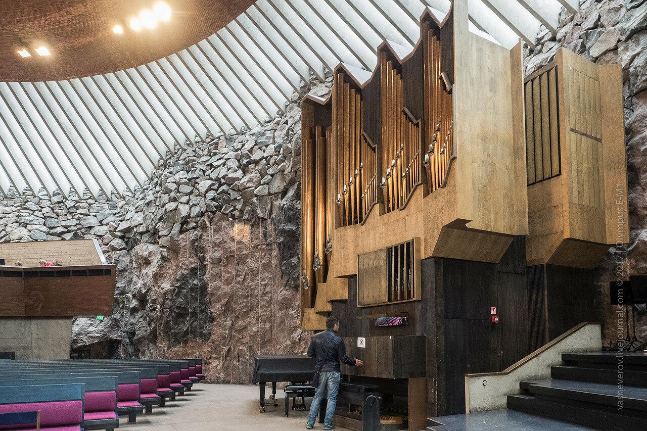 helsinki Temppeliaukion kirkko Темппелиаукио finland васязаграницей