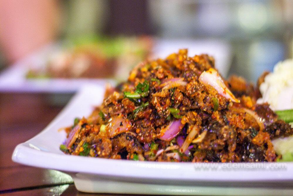 Тайский салат из рыбы