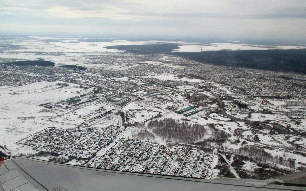 Southern suburbs of Yekaterinburg from the air